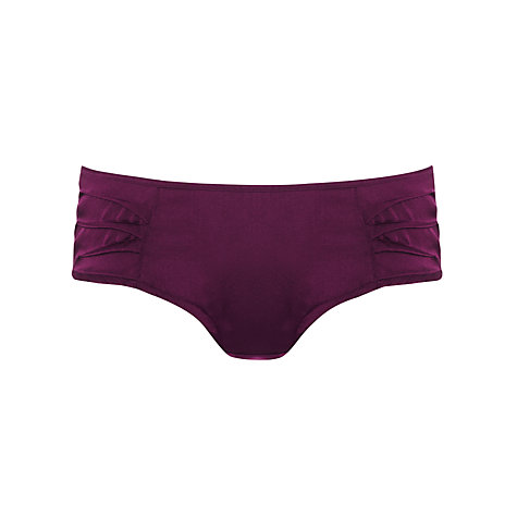 Buy Somerset by Alice Temperley Deco Shorts, Claret Online at johnlewis.com