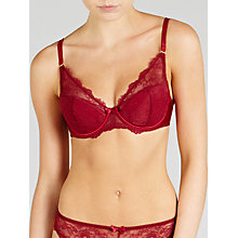 Buy John Lewis Genevieve Balcony Bra, Mulberry Online at johnlewis.com