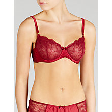Buy John Lewis Genevieve Non-Padded Balcony Bra, Mulberry Online at johnlewis.com