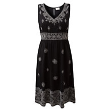 Buy East Embroidered Dress, Black Online at johnlewis.com