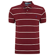 Buy Polo Ralph Lauren Stripe Polo Shirt, Wine Online at johnlewis.com