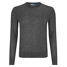 Buy Polo Ralph Lauren Slim Fit Merino Crew Neck Jumper Online at johnlewis.com