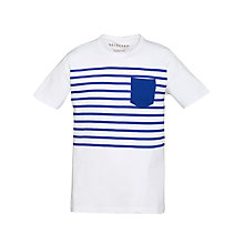 Buy Selected Homme Mick Stripe Short Sleeve T-Shirt Online at johnlewis.com