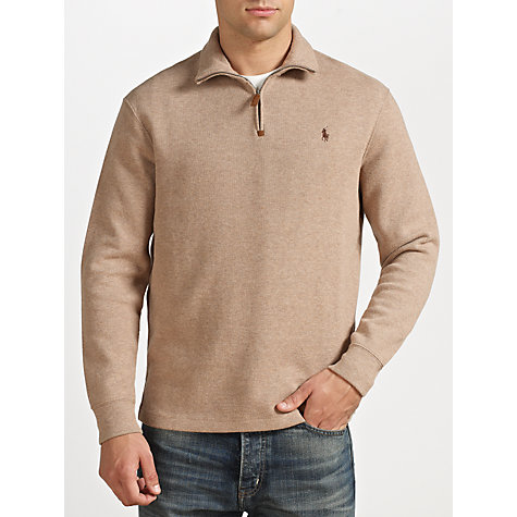 Buy Polo Ralph Lauren Zip Neck Jersey Jumper Online at johnlewis.com