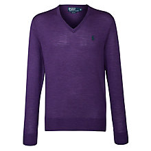 Buy Polo Ralph Lauren V-Neck Jumper Online at johnlewis.com