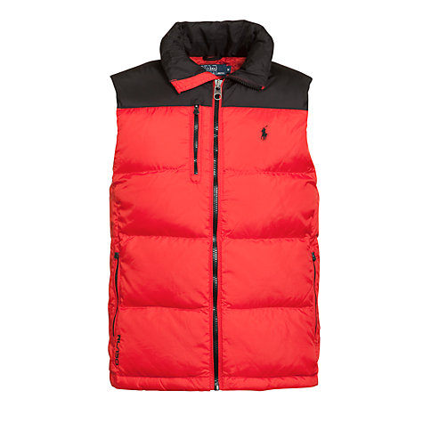 Buy Polo Ralph Lauren Trek Puffer Gilet, F1 Red Online at johnlewis.com