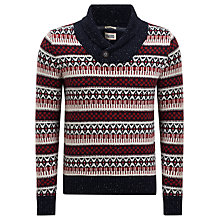 Buy Hilfiger Denim Grimshaw Fairisle Shawl Collar Jumper, Multi Online at johnlewis.com