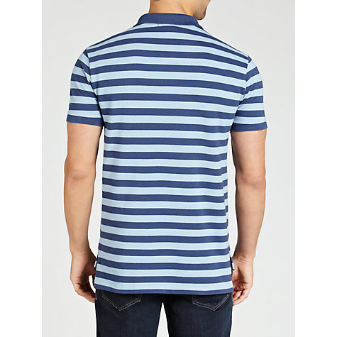 Buy Polo Ralph Lauren Custom Fit Stripe Pocket Polo Shirt Online at johnlewis.com
