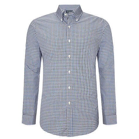 Buy Polo Ralph Lauren Slim Fit Gingham Shirt, Blue/Navy Online at johnlewis.com