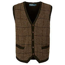 Buy Polo Ralph Lauren Estate Waistcoat, Brown Online at johnlewis.com