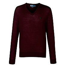 Buy Polo Ralph Lauren Slim Fit Merino V-Neck Jumper Online at johnlewis.com