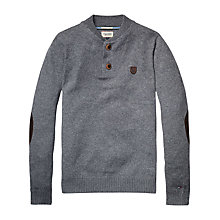 Buy Hilfiger Denim Gemini Henley Top, Light Grey Heather Online at johnlewis.com