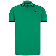 Buy Hackett London Small Numbered Polo Shirt, Green Online at johnlewis.com