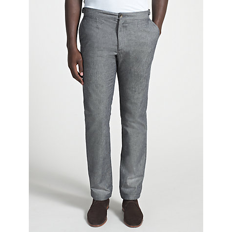 Buy Ben Sherman Herringbone Trousers, Jet Black/Grey Online at johnlewis.com