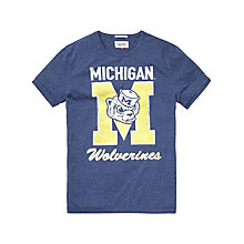 Buy Hilfiger Denim Michigan T-Shirt, Blue Online at johnlewis.com