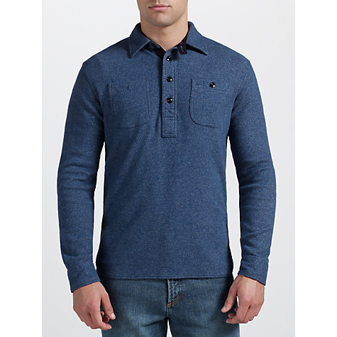Buy Polo Ralph Lauren Long Sleeve Work Shirt, Hazy Navy Online at johnlewis.com