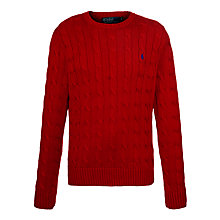Buy Polo Ralph Lauren Cotton Cable Knit Jumper Online at johnlewis.com