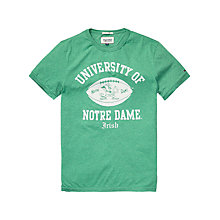 Buy Hilfiger Denim Notre Dame T-Shirt, Green Online at johnlewis.com
