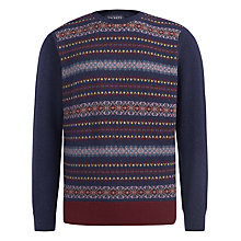 Buy Hackett London Fair Isle Knit Jumper, Blue Online at johnlewis.com
