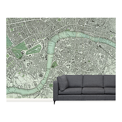 Surface View Chart of London Wall Mural, 360 x 265cm