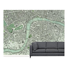 Buy Surface View Chart of London Wall Mural, 360 x 265cm Online at johnlewis.com