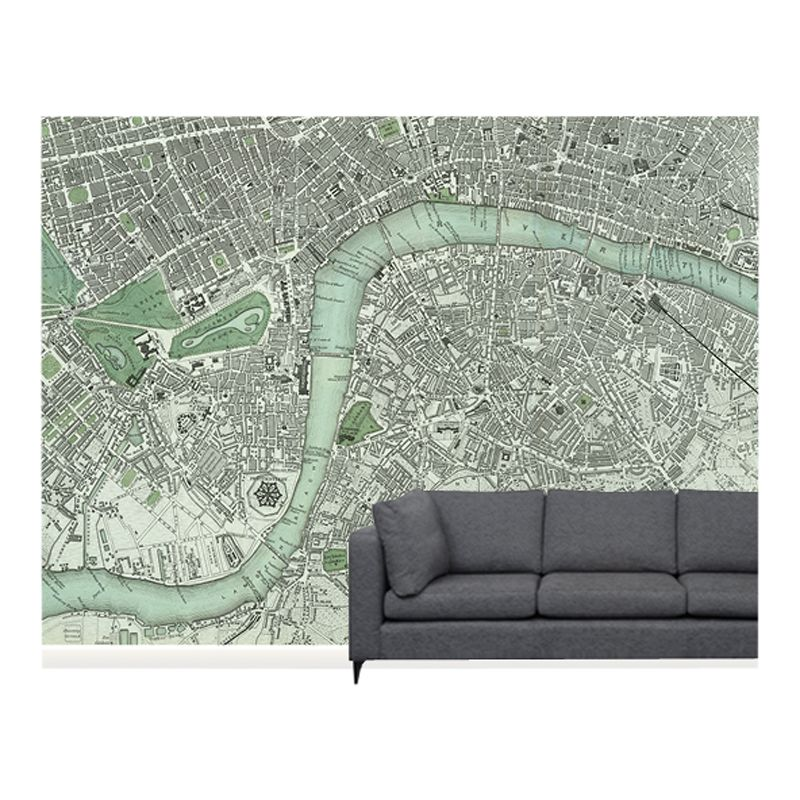 Surface View Surface View Chart of London Wall Mural, 360 x 265cm