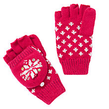 Buy John Lewis Girl Christmas Fair Isle Flip Gloves, Berry Red Online at johnlewis.com