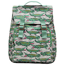Buy Cath Kidston Crocodile Backpack, Grey/Green Online at johnlewis.com