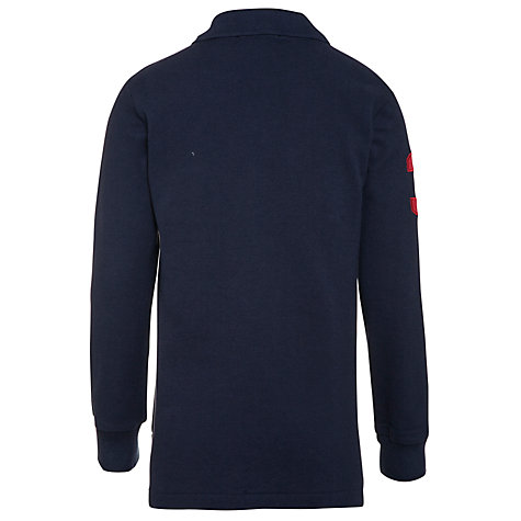 Buy Polo Ralph Lauren Boys' Long Sleeve Polo Shirt, Navy Blue Online at johnlewis.com