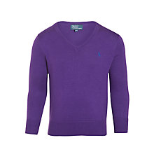 Buy Polo Ralph Lauren Boys' Long Sleeve V-Neck Jumper Online at johnlewis.com