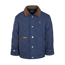 Buy Polo Ralph Lauren Boys' Hagan Quilted Jacket, Navy Online at johnlewis.com