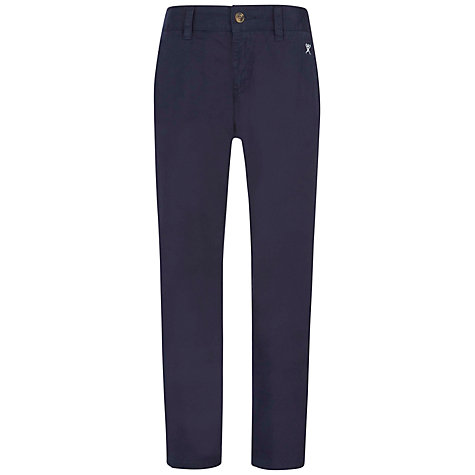 Buy Hackett Boys' London Classic Chino Trousers, Navy Online at johnlewis.com