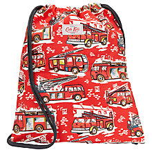 Buy Cath Kidston Fire Engine Drawstring Bag, Red Online at johnlewis.com