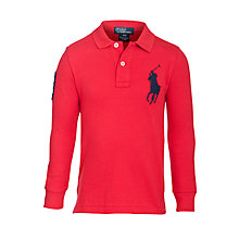 Buy Polo Ralph Lauren Boys' Long Sleeved Big Pony Polo Shirt Online at johnlewis.com