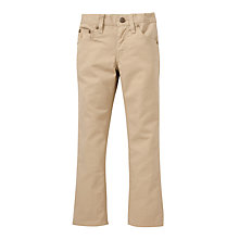 Buy Polo Ralph Lauren Boys' Slim Fit Trousers, Tan Online at johnlewis.com