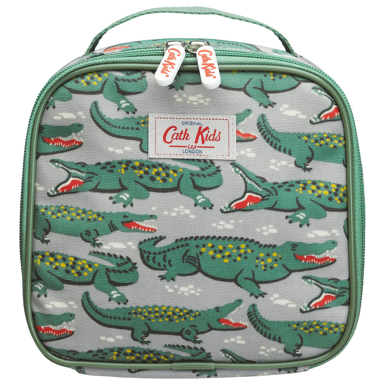 Cath Kidston Crocodile Lunch Bag, Grey/Green