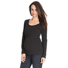 Buy Séraphine Long Sleeve Leanne Nursing Maternity Top, Black Online at johnlewis.com