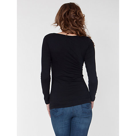 Buy Seraphine Long Sleeve Leanne Top, Black Online at johnlewis.com