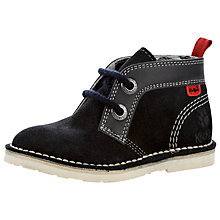 Buy Kickers Adler Jnr Boots, Dark Blue Online at johnlewis.com