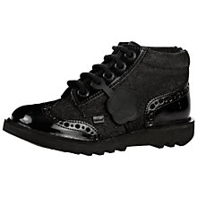 Buy Kickers Brogue Boots, Black Glitter Online at johnlewis.com