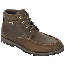 Buy Rockport Rugged Bucks Waterproof Moc Plain Toe Boots, Dark Tan Online at johnlewis.com
