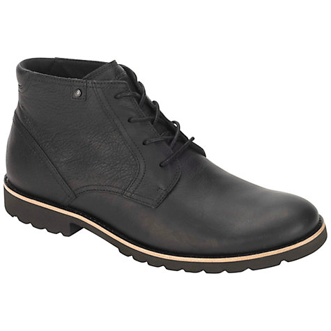 Buy Rockport Ledgehill Leather Lace Up Boots, Black Online at johnlewis.com