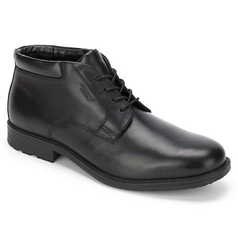 Buy Rockport Essent Detail Waterproof Chukka Boots, Black Online at johnlewis.com
