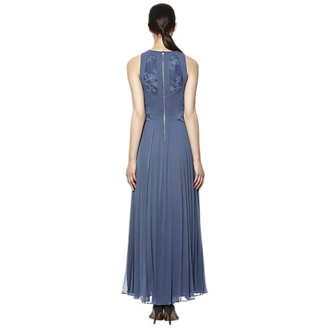 Buy Whistles Harper Lace Evening Dress, Grey Online at johnlewis.com