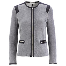 Buy Whistles Mila Textured Jacket, Navy Online at johnlewis.com