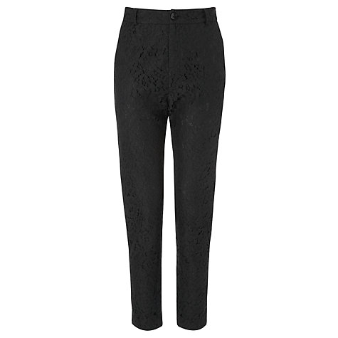 Buy Somerset by Alice Temperley Lace Trousers, Black Online at johnlewis.com