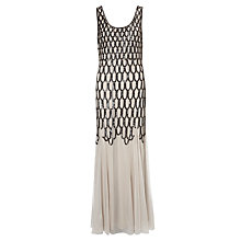 Buy Somerset by Alice Temperley Sequin Long Dress, Silver Online at johnlewis.com