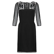 Buy Somerset by Alice Temperley Velvet Trim Dress, Black Online at johnlewis.com