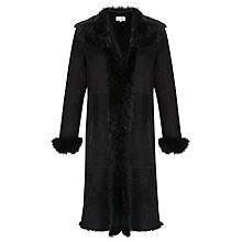 Buy Somerset by Alice Temperley Shearling Coat, Black Online at johnlewis.com