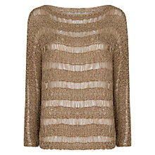 Buy Mango Open Knit Jumper, Light Beige Online at johnlewis.com